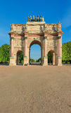 Arc de Triomphe du Carrousel in Paris, front view Stock Images