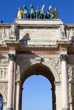 Arc de Triomphe du Carrousel in Paris. The impressive Arc de Triomphe du Carrousel in Paris Royalty Free Stock Photos