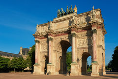 Arc de Triomphe du Carrousel in Paris Royalty Free Stock Photo
