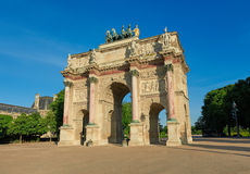 Arc de Triomphe du Carrousel in Paris Stock Image