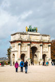 Arc de Triomphe du Carrousel in Paris Royalty Free Stock Photos