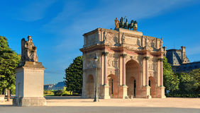 Arc de Triomphe du Carrousel in Paris, panoramic image Royalty Free Stock Images