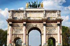 The Arc de Triomphe du Carrousel in Paris Royalty Free Stock Image
