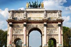 The Arc de Triomphe du Carrousel in Paris Royalty Free Stock Image