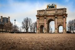 Arc de Triomphe du Carrousel, Paris. Arc de Triomphe du Carrousel at Tuileries Gardens, Paris Royalty Free Stock Photography