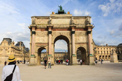 The Arc de Triomphe du Carrousel is a triumphal arch in Paris. Royalty Free Stock Photography