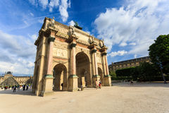 The Arc de Triomphe du Carrousel is a triumphal arch in Paris. The Arc de Triomphe du Carrousel is a triumphal arch in Paris, located in the Place du Carrousel Royalty Free Stock Photography