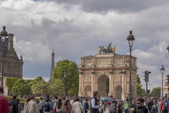 Arc de Triomphe du Carrousel. In Tuileries Garden. Paris, France Royalty Free Stock Image
