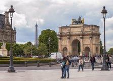 Arc de Triomphe du Carrousel. In Tuileries Garden. Paris, France Royalty Free Stock Photos