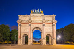 Arc de Triomphe du Carrousel at Tuileries Gardens in Paris, Fran Royalty Free Stock Photos