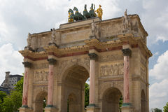 Arc de Triomphe du Carrousel. At the Tuileries in Paris, France shot on a sunny day Stock Photo