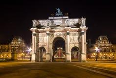 Arc de Triomphe du Carroussel, Paris, France. Arc de Triomphe du Carroussel Near the Louvre Museum in Paris, France Royalty Free Stock Images