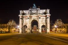 Arc de Triomphe du Carroussel, Paris, France. Arc de Triomphe du Carroussel Near the Louvre Museum in Paris, France Stock Image