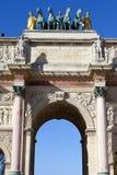 Arc de Triomphe du Karusell i Paris Royaltyfria Foton