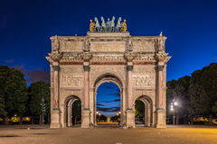 Arc de Triomphe du Karusell på Tuileries trädgårdar, Paris Royaltyfria Foton