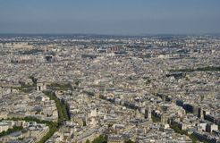 Arc de triomphe from the Eiffel Tower, Paris Royalty Free Stock Image