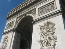 Arc de Triomphe em Paris foto de stock royalty free
