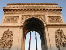 Arc de Triomphe en París Foto de archivo libre de regalías