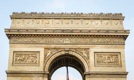 Arc de Triomphe en París, Francia Imágenes de archivo libres de regalías