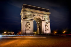 Arc de triomphe in evening Royalty Free Stock Photography