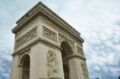 Arc de Triomphe famoso na cidade de Paris foto de stock