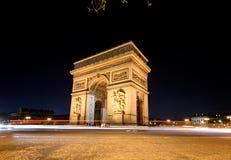 Arc de Triomphe Paris France. The Arc de Triomphe is the famous landmark of Paris France Stock Photos