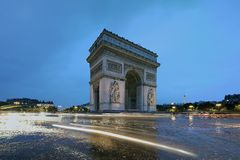 Arc de Triomphe. Famous Arc de Triomphe in Paris Royalty Free Stock Photography