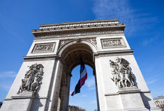 Arc de Triomphe in Charles De Gaulle Royalty Free Stock Photos