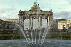 Arc de Triomphe i Bryssel, Belgien Royaltyfria Foton
