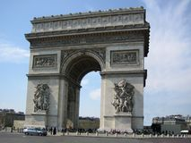 Arc de Triomphe i Paris Royaltyfria Foton