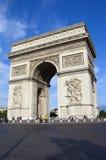 Arc de Triomphe i Paris Arkivbild