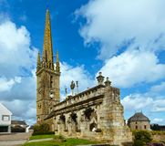 Arc de Triomphe i Sizun Brittany Frankrike Arkivfoto
