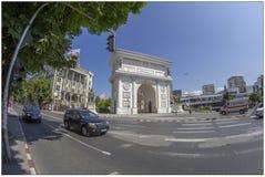 Arc de Triomphe i Skopje, Makedonien arkivbild