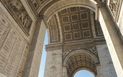 Arc de Triomphe inre sikt arkivbilder