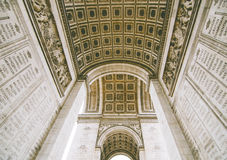 Arc De Triomphe. From the inside, taken by me royalty free stock photos