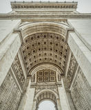 Arc de Triomphe interior  details. French architecture image with the interior of the Arc de Triomphe, historical monument located in the center of the Paris Stock Photos