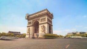 Arc de Triomphe 4K timelapse stock video footage