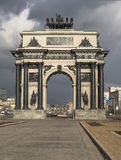 Arc de Triomphe on Kutuzov Avenue in Moscow. Stock Photo