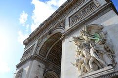 Arc de Triomphe de l zoom för ‰ för ` Ã toile royaltyfri foto