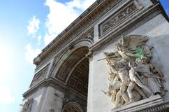 Arc de Triomphe de l zumbido toile do ‰ do ` Ã foto de stock royalty free