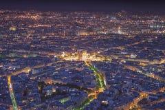 Arc de Triomphe la nuit, Paris Images libres de droits