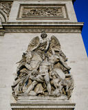 Arc de Triomphe La Resistance de 1814 Royalty Free Stock Photo