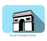 Arc De Triomphe landmark flat icon design Stock Image