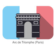Arc De Triomphe landmark flat icon Royalty Free Stock Images