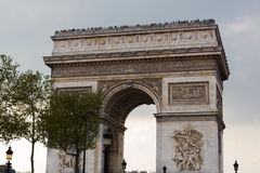 Arc de Triomphe, Landscape Royalty Free Stock Photography