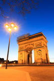 Arc de Triomphe lantern. Beautiful night view of the Arc de Triomphe in Paris, France Stock Images