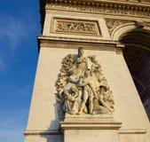 Arc de triomphe. Low angle view of the famous arc de triomphe in paris Royalty Free Stock Photos
