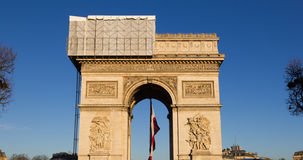 Arc de Triomphe. A low angle view of the Arc de Triomphe in Paris Stock Photography