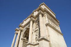 Arc de Triomphe of Marseille in France Stock Photography