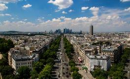 Arc de Triomphe -mening van Parijs Royalty-vrije Stock Foto